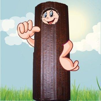 Disfraz de tronco de árbol para niños. Manualidades infantiles
