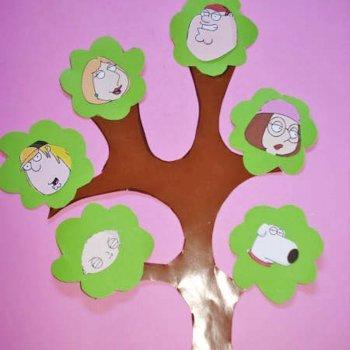 Árbol genealógico de tu familia. Manualidades para niños