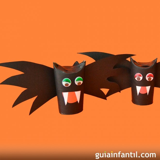Murci lago de halloween manualidades infantiles de reciclaje - Murcielago halloween ...