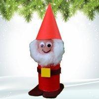 Papá Noel de cartón. Manualidades de Navidad para niños