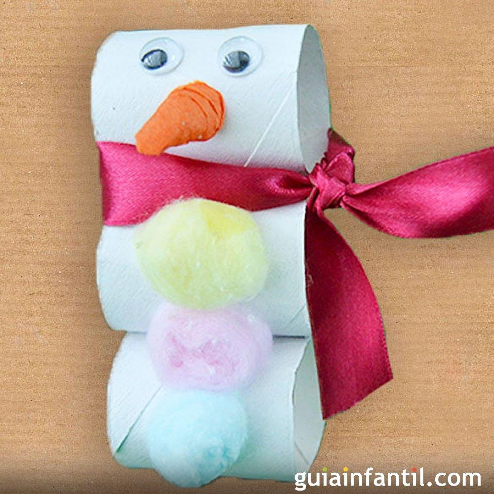 Ideas para navidad con rollos de papel higienico - Manualidades munecos de navidad ...