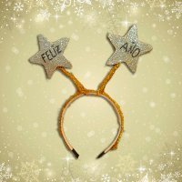 Diadema para Año Nuevo con estrellas. Manualidad navideña