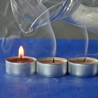 Cómo apagar una vela sin soplar. Experimentos caseros para niños