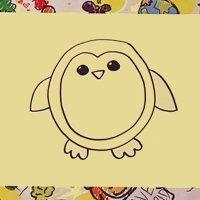Cómo hacer un dibujo de un pingüino paso a paso