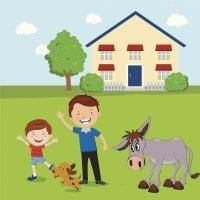 El hombre, el niño y el burro. Cuentos infantiles sobre padres