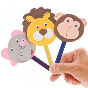 Marionetas de animales con palos