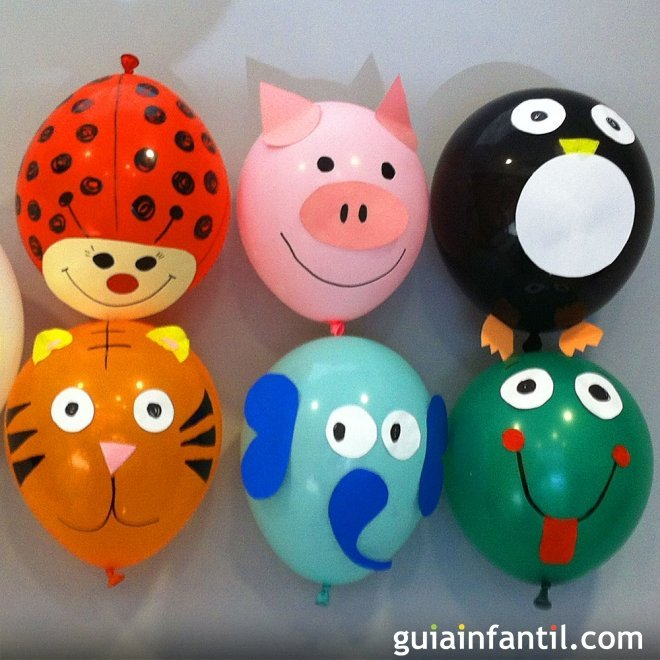 8 ideas para decorar globos con los ni os for Decoracion navidena para ninos