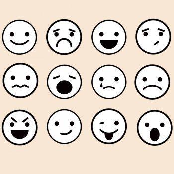 Dibujos de caras de emociones para colorear con los niños