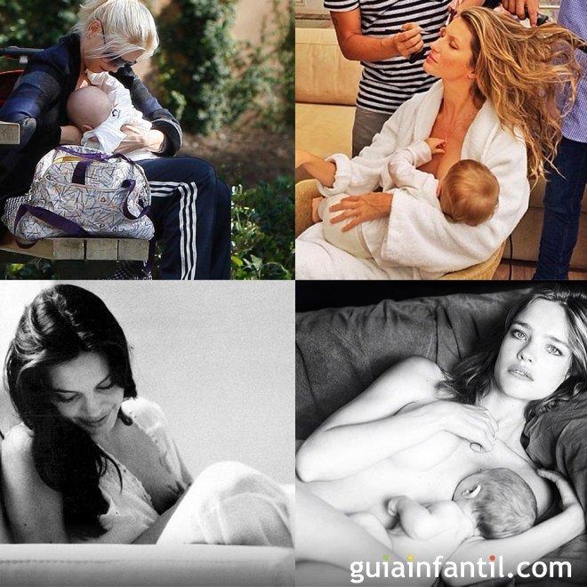 Madres famosas también amamantan a sus bebés