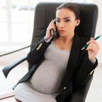 el trabajo de la mujer embarazada: