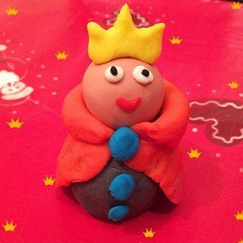 Rey Mago de plastilina. Manualidad infantil de Navidad