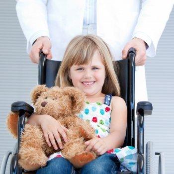 Niños con discapacidad motriz