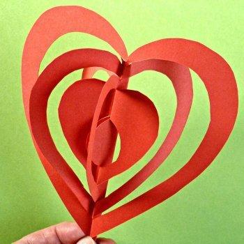 Corazón con papel