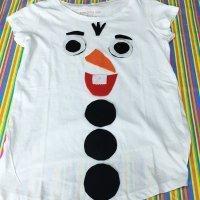 Disfraz casero de Olaf con camiseta para niños