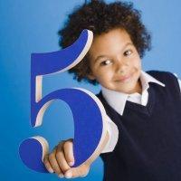 Poemas infantiles sobre el número cinco