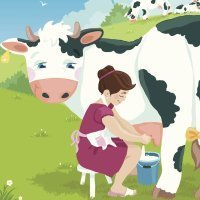 The milkmaid and her pail. Cuentos cortos en inglés