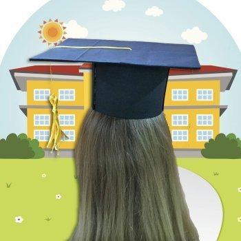 Sombrero de graduación. Manualidades para niños