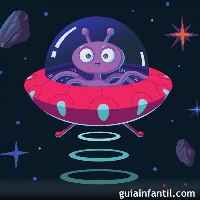 Dibujos de ovnis y extraterrestres para colorear