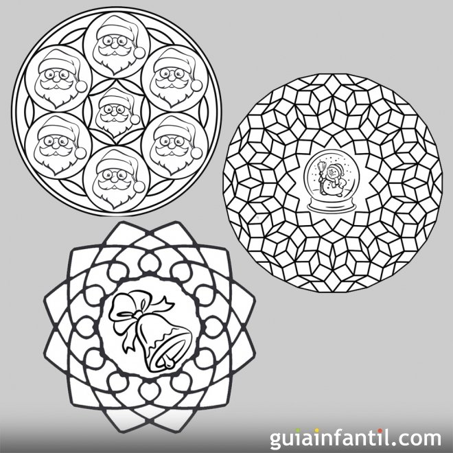 11 mandalas de navidad para colorear con los ni os for Mandalas ninos