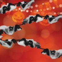 Guirnalda de murciélagos para Halloween. Manualidades con hueveras