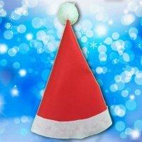Gorro de Papá Noel con fieltro. Manualidades de Navidad