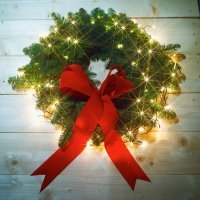 Coronas de Navidad. Manualidades infantiles