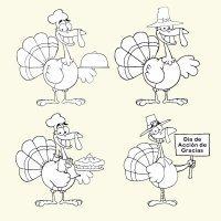Dibujos para imprimir y colorear. Día de Acción de Gracias