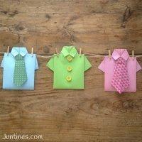 Camisas de origami. Manualidades con papel