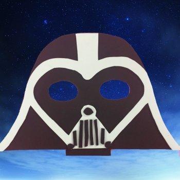 Máscara de Darth Vader. Manualidades infantiles
