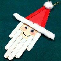Papá Noel. Manualidad con palos de helado