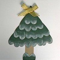 Postales de Navidad. Árbol de corazones