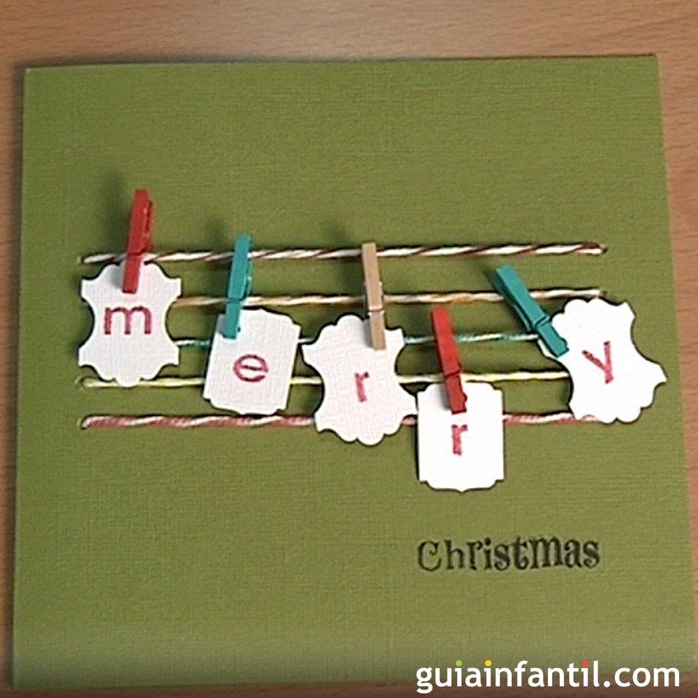 Ideas tarjetas navide as para ni os - Ideas para hacer postales de navidad con ninos ...