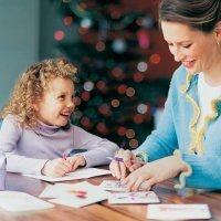 Ideas de postales de Navidad para niños