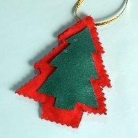 Adorno de árbol de Navidad. Manualidades con fieltro
