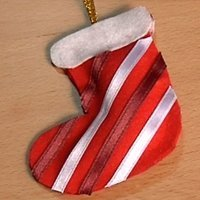 Adorno de bota de Papá Noel. Manualidades con fieltro
