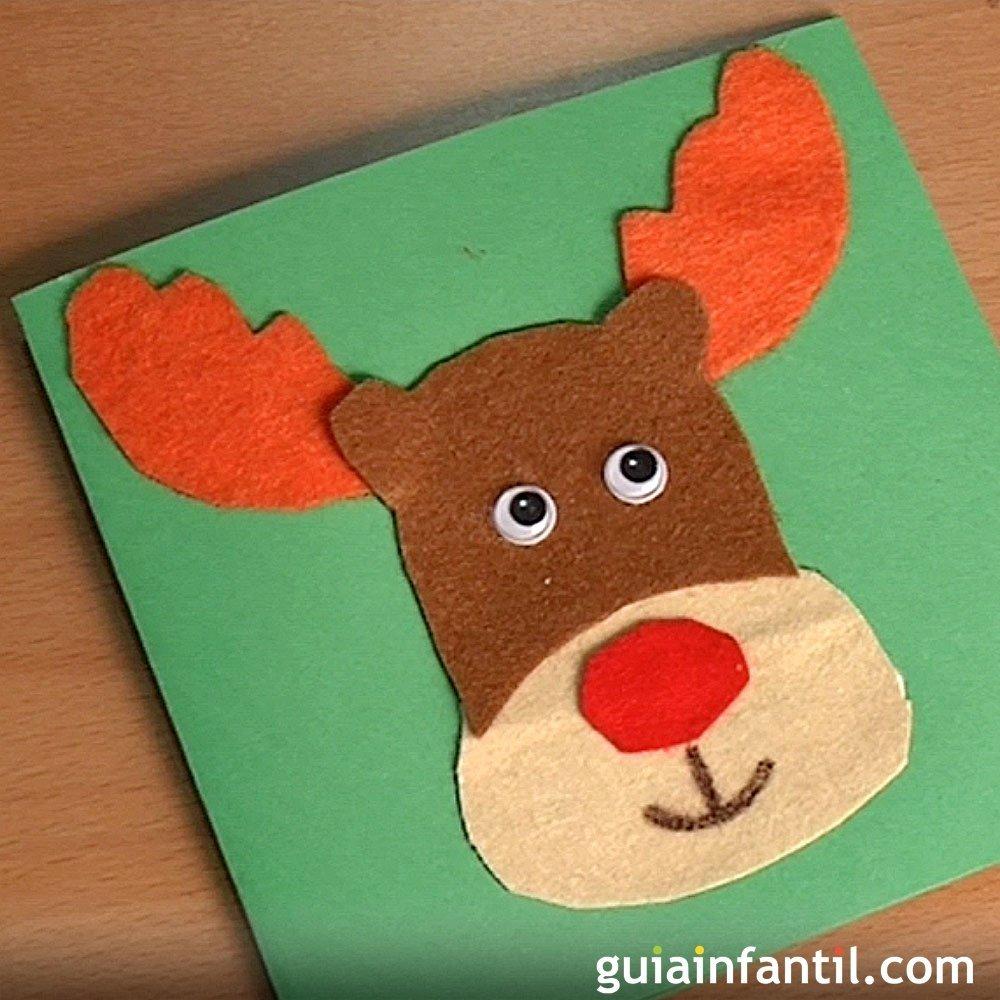 Cmo hacer una tarjeta de navidad manualidades para nios - Manualidades infantiles para navidad ...