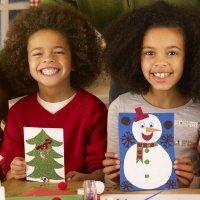 Postales y adornos de Navidad con fieltro