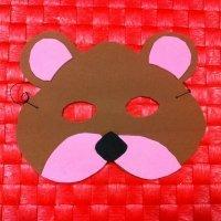 Antifaz de oso. Manualidades de Carnaval