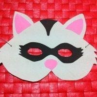Antifaz de mapache. Manualidades de Carnaval
