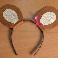 Diadema con orejas de ratón. Manualidades de Carnaval