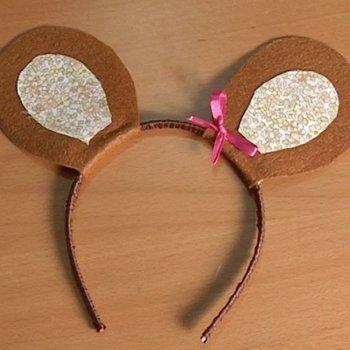 Diadema con orejas de ratón