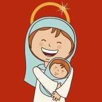 Madre en la puerta hay un niño. Villancicos de Navidad