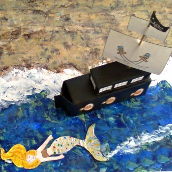 Barco Pirata. Manualidades de reciclaje para niños