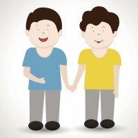 Los dos amigos. Fábula infantil de La Fontaine