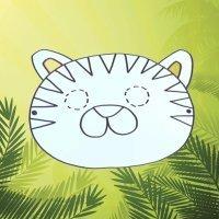 Cómo hacer, paso a paso, una máscara de tigre