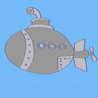 Cómo hacer, paso a paso, un dibujo de un submarino