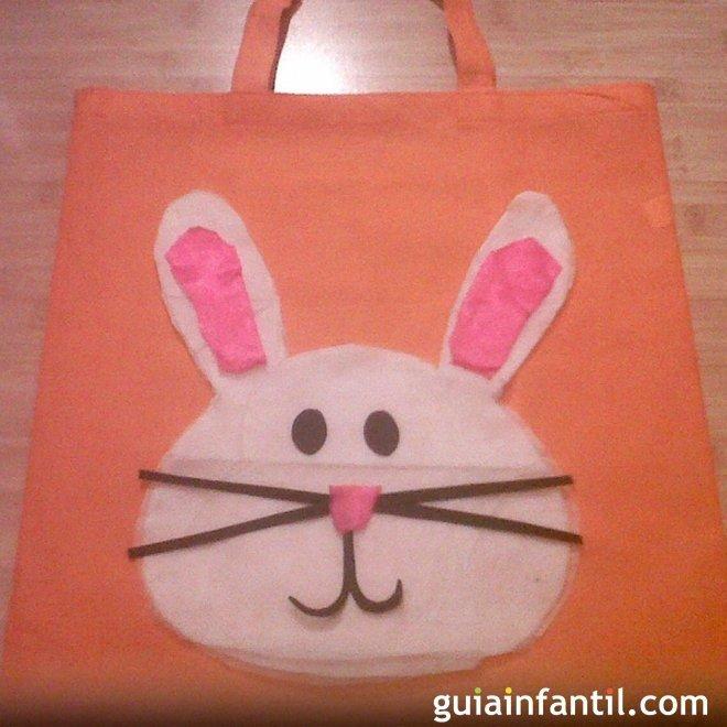 Manualidades de pascua para ni os bolsa de conejo for Manualidades pascua