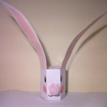 Manualidades de Pascua para niños. Caja de conejo de Pascua