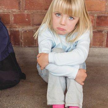 El niño no quiere ir a la escuela