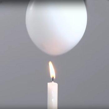 Evitar que un globo estalle con fuego